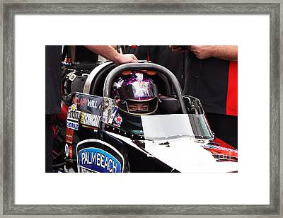 Hillary Will Las Vegas Motor Speed Way Strip Nhra Finals 2008 Framed Print by Gunter Nezhoda