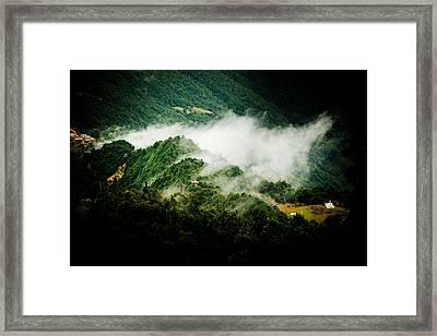 Himalayas Mountain With Mist Panaramic Framed Print by Raimond Klavins