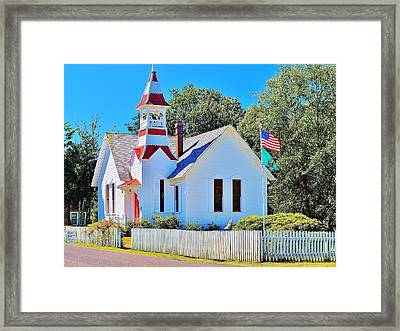 Historic Oysterville Church Framed Print