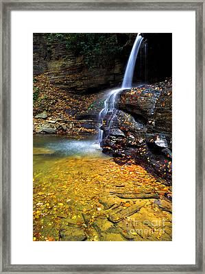Holly River State Park Upper Falls Framed Print by Thomas R Fletcher