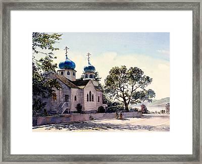 Holy Resurrection Cathedral Kodiak Framed Print