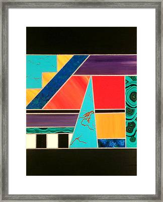 Homage To Inlay #2 Framed Print by Karyn Robinson