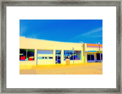 Hopper Garage Framed Print