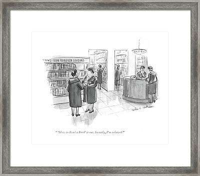 'how To Read A Book' Is Out. Secretly Framed Print by Helen E. Hokinson