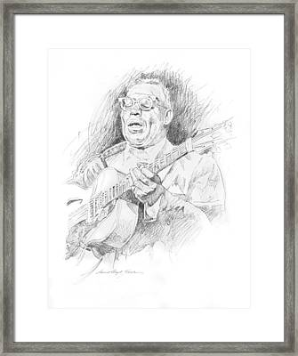 Howlin' Wolf Framed Print by David Lloyd Glover