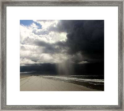 Hurricane Glimpse Framed Print
