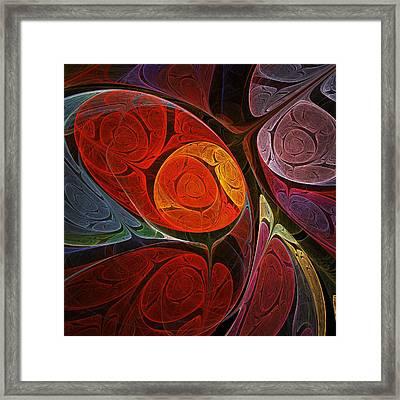 Hypnotic Flower Framed Print by Anastasiya Malakhova