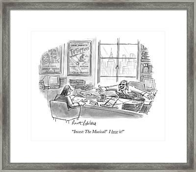 'incest: The Musical!' I Love It! Framed Print