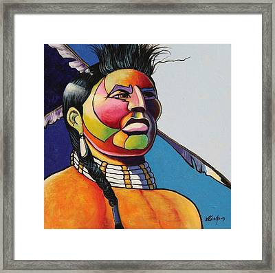 Indian Portrait Framed Print by Joe  Triano