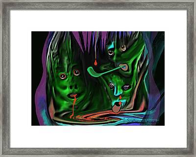 Insane  - 242 Framed Print by Irmgard Schoendorf Welch