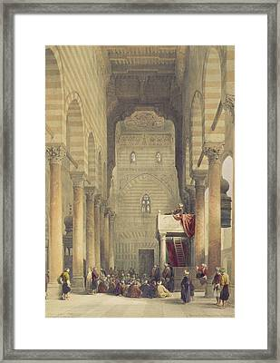 Interior Of The Mosque Of The Metwalys Framed Print by David Roberts