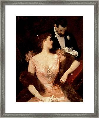 Invitation To The Waltz Framed Print by Francesco Miralles Galaup
