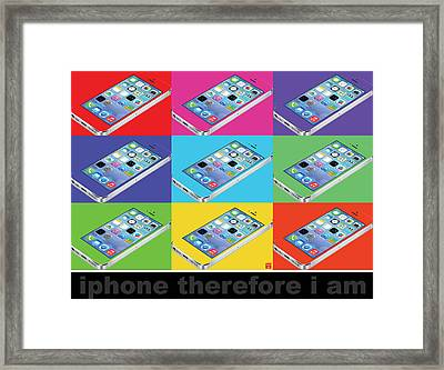 Iphone Therefore I Am Framed Print