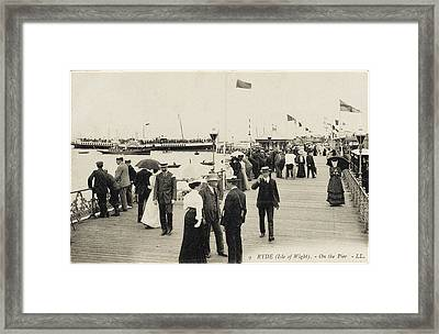 Isle Of Wight  Ryde, On The Pier Framed Print by Mary Evans Picture Library