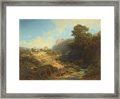 Italian Landscape Framed Print by Celestial Images
