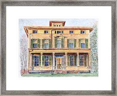 Italianate House Ny Framed Print