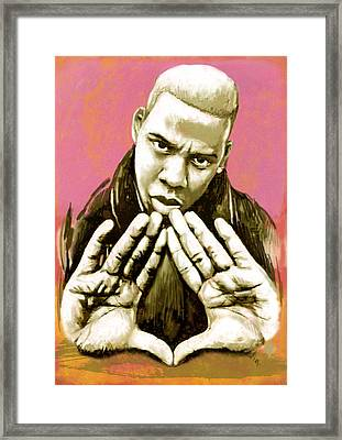 Jay-z Art Sketch Poster Framed Print