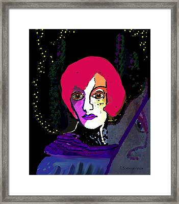 Jeanne - 924 Framed Print by Irmgard Schoendorf Welch