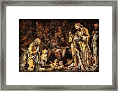 Jesus Had A Labrador Framed Print by Lee Dos Santos