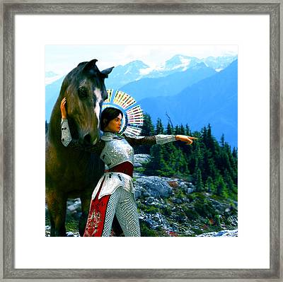 Framed Print featuring the painting  Joan Of Arc Visionary by Suzanne Silvir