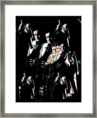 Framed Print featuring the photograph  Johnny Cash Multiplied  by David Lee Guss
