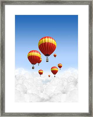 Joy Above The Clouds Framed Print by Allan Swart