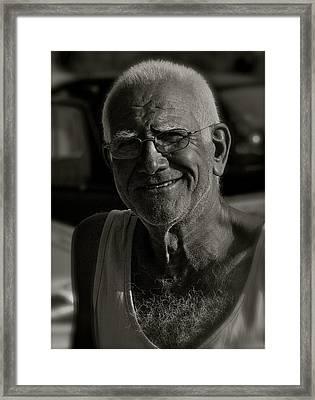 Kalimera  Georgos. Framed Print by  Andrzej Goszcz