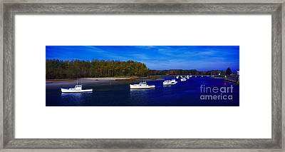 Framed Print featuring the photograph  Kennnepunkport Harbor  Maine  by Tom Jelen