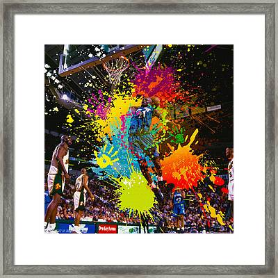 Kevin Garnett Of Minnesota Timberwolves  Framed Print by Don Kuing