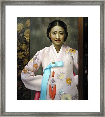Korean Girls Framed Print