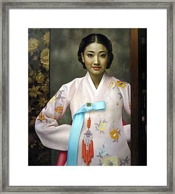 Korean Girls Framed Print by Yoo Choong Yeul