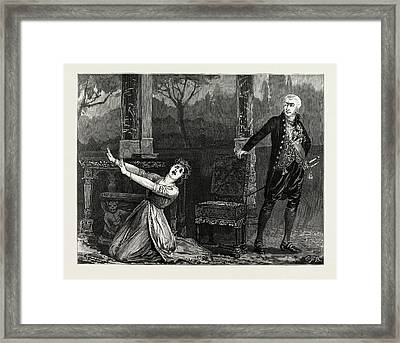 La Tosca At The Garrick Theatre Framed Print