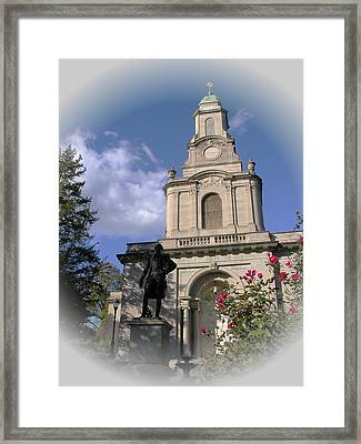 Lafayette College Easton - Roses For The Marquis Framed Print by Jacqueline M Lewis