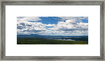 Lake Winnipesaukee Panorama Framed Print