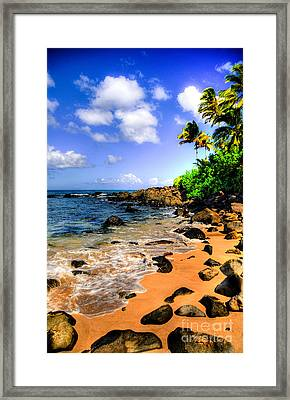 Laniakea Beach Framed Print
