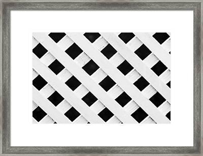Lattice Fence Pattern Framed Print