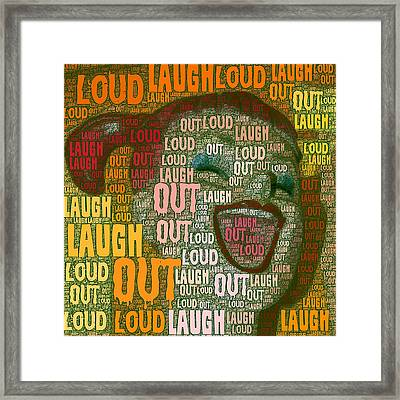 Framed Print featuring the photograph  Laugh Out Loud  by Linda Weinstock