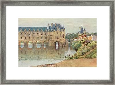 Le Chateau De Chenonceaux         Date Framed Print