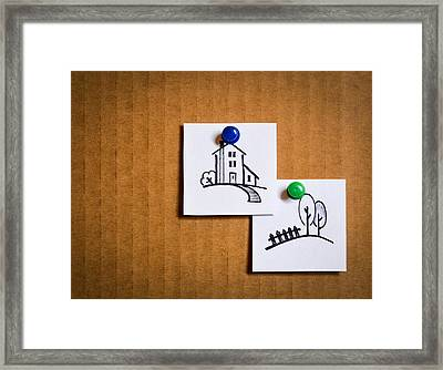 Leaflets With Cartoon Icons Framed Print by Jozef Jankola