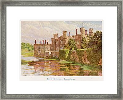 Leeds Castle, Kent         Date 1907 Framed Print by Mary Evans Picture Library