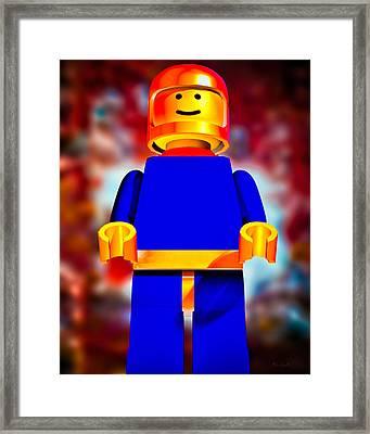 Lego Spaceman Framed Print