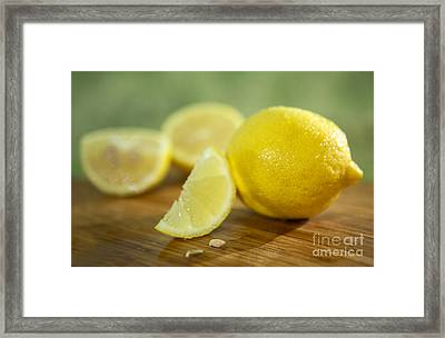 Lemon Citrus Limon Zitronen Framed Print by Iris Richardson