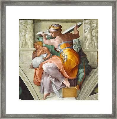 Libyan Sibyl Framed Print by Michelangelo di Lodovico Buonarroti Simoni