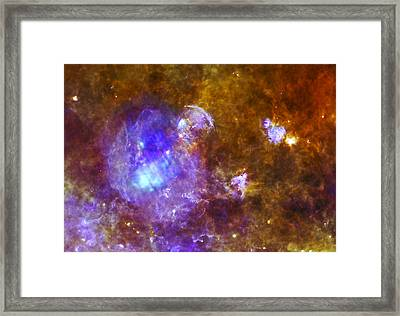 Life And Death In A Star-forming Cloud Framed Print by Adam Romanowicz
