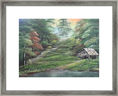 Light Down The River Framed Print