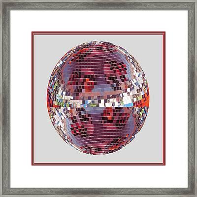 Light Globes Interior Decorations Entertainment Hotels Resorts Casino Bar Las Vegas America Usa Framed Print by Navin Joshi