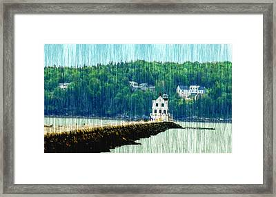 Light House Maine Framed Print