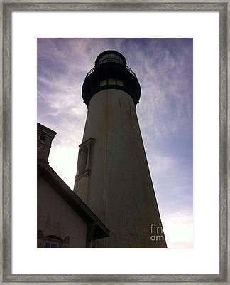 Framed Print featuring the photograph  Light House Sky by Susan Garren