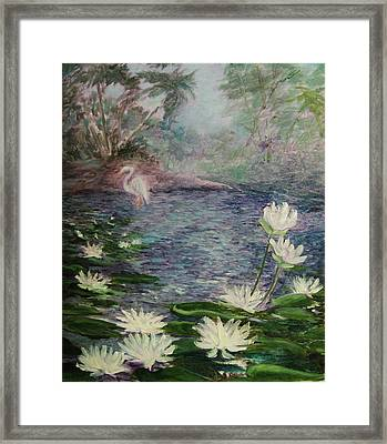 Lilies  Of  The  Pond Framed Print