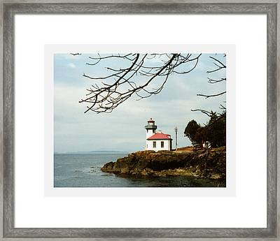 Lime Kiln Light Station Framed Print by Jack Pumphrey